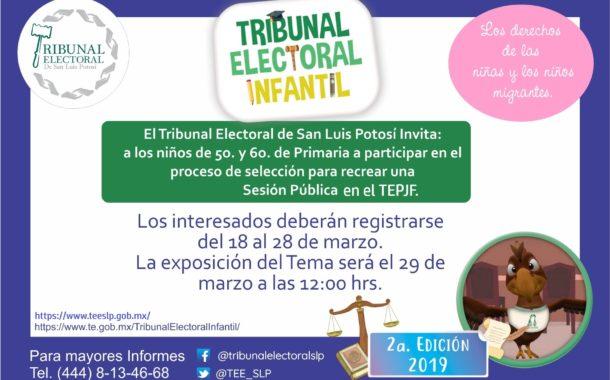 Etapa Estatal Tribunal Electoral Infantil
